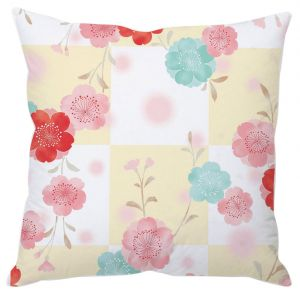 Flowers In Blocks Cushion Cover