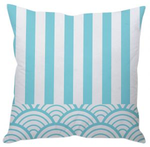 Blue And White Stripes Cushion Cover