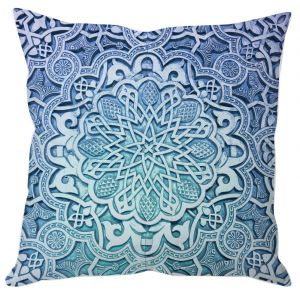 Blue Royal Art Cushion Cover
