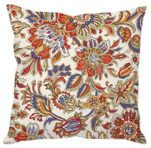 Ethnic Floral Print Cushion Cover