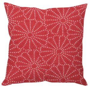 Red Dot Flowers Cushion Cover