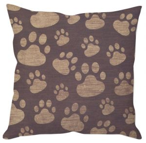 Cute Paw Prints Cushion Cover