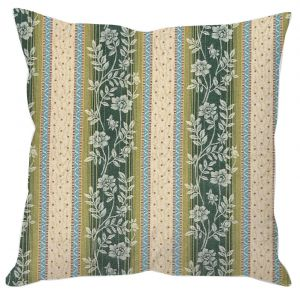 Floral Stripes Cushion Cover