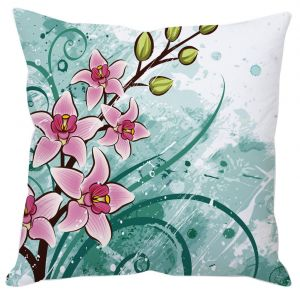 Bright Pink Floral Cushion Cover