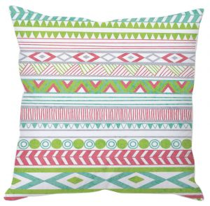 Green Aztec Print Cushion Cover
