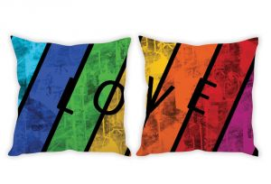Stybuzz Love Rainbow Art Couple Cushion Covers