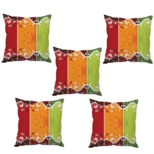Stybuzz Tricolor Abstract Art Cushion Cover- Set Of 5