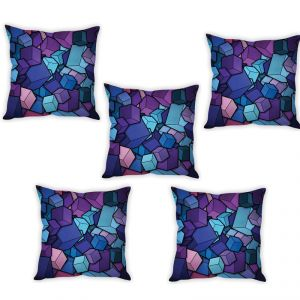 Stybuzz 3d Abstract Art Cushion Cover- Set Of 5