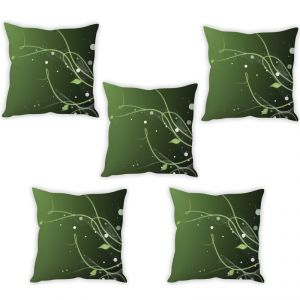 Stybuzz Leaf Abstract Art Cushion Cover- Set Of 5