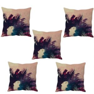 Stybuzz Girl Painting Art Cushion Cover- Set Of 5