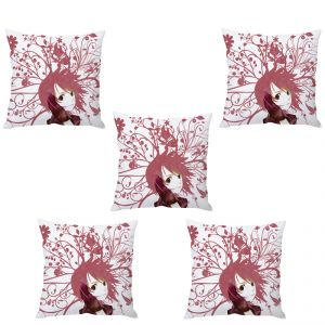 Stybuzz Floral Girl Art Cushion Cover- Set Of 5
