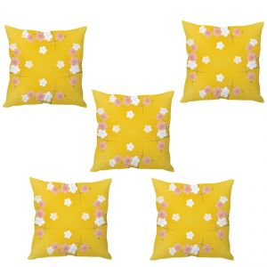 Stybuzz Spring Flowers Cushion Cover- Set Of 5
