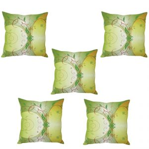 Stybuzz Green Art Cushion Cover- Set Of 5