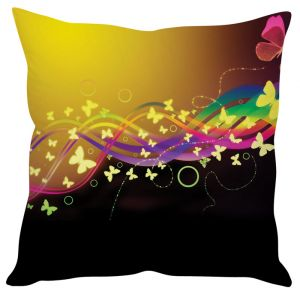 Stybuzz Butterfly Abstract Art Brown Cushion Cover