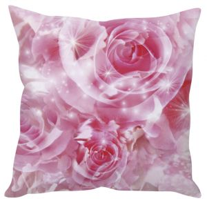 Stybuzz Rose Abstract Art Pink Cushion Cover