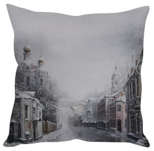 Stybuzz Snow Fall Town Grey Cushion Cover