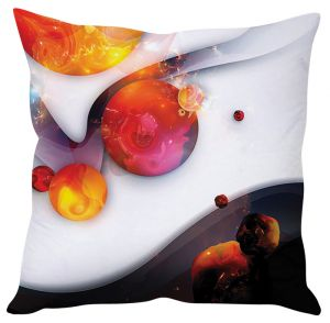 Stybuzz Fire Balls White Cushion Cover