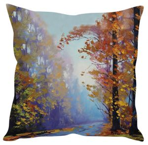 Stybuzz Beautiful Painting Blue Cushion Cover