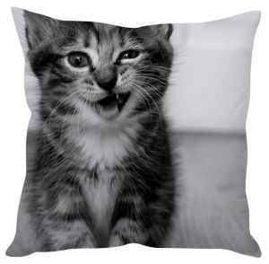 Stybuzz Clever Kitty Grey Cushion Cover