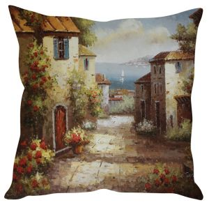 Stybuzz Painting Art Brown Cushion Cover
