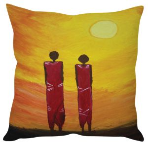 Stybuzz Modern Art Painting Art Orange Cushion Cover