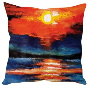 Stybuzz Sunset Painting Art Orange Cushion Cover