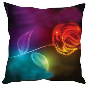 Stybuzz Rose Abstract Art Multicolor Cushion Cover