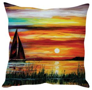 Stybuzz Sunset Painting Art Multicolor Cushion Cover