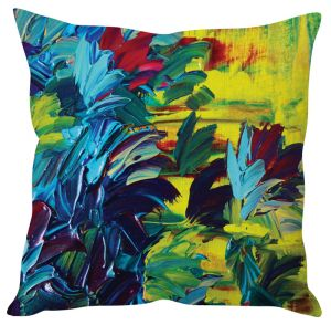 Stybuzz Abstract Painting Art Green Cushion Cover