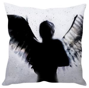 Stybuzz Dark Angel Shadow Grey Cushion Cover