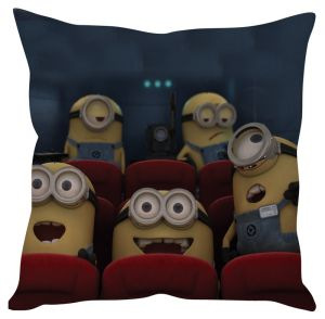 Stybuzz Happy Minions Yellow Cushion Cover