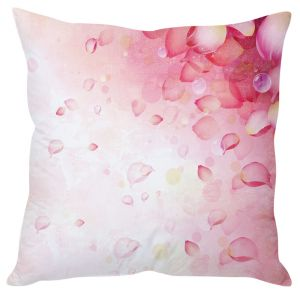 Stybuzz Floral Petals Art Pink Cushion Cover