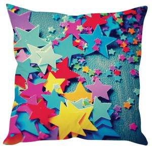 Stybuzz Colorful Stars Blue Cushion Cover