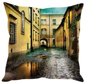 Stybuzz Vintage Street Yellow Cushion Cover