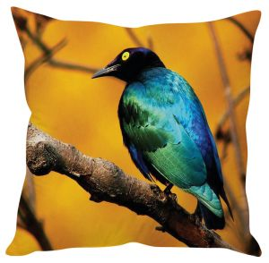 Stybuzz Bird On Tree Yellow Cushion Cover