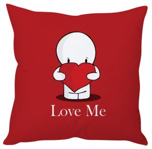 Stybuzz Love Me Toon Red Cushion Cover