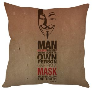 Stybuzz Oscar Wilde Quote Beige Cushion Cover