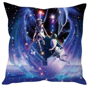 Stybuzz Artistic Angel Blue Cushion Cover