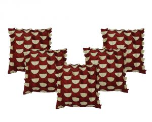 Stybuzz Maroon Embroidered Cushion Covers - Set Of 5 - (product Code - Embr00005)