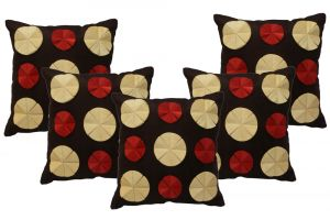 Stybuzz Brown Embroidered Cushion Covers - Set Of 5 - (product Code - Embr00007)