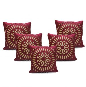 Stybuzz Black Embroidered Cushion Covers - Set Of 5 - (product Code - Embr000030)