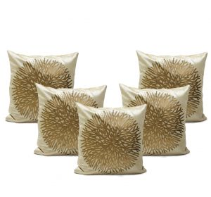 Stybuzz Maroon Embroidered Cushion Covers - Set Of 5 - (product Code - Embr000031)