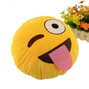 Stybuzz Wink Eye Emoji Cushion