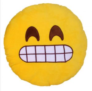 Stybuzz Wide Grin Emoji Cushion