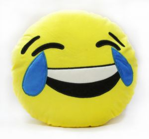 Stybuzz Laughing Tears Emoji Cushion