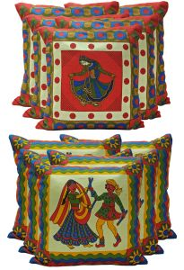 Stybuzz Ethenic Cotton Cushion Cover Set Of 10 - Scten00051