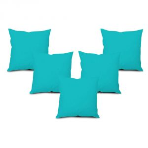 Stybuzz Blue Solid Cushion Cover - Set Of 5 - (product Code - Sdbs00005)