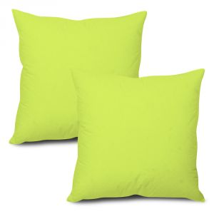 Stybuzz Green Solid Cushion Cover - Set Of 2 - (product Code - Sdg00002)