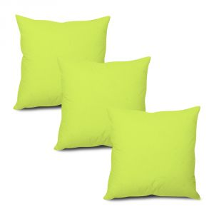 Stybuzz Green Solid Cushion Cover - Set Of 3 - (product Code - Sdg00003)