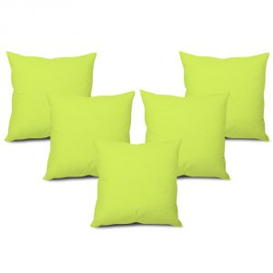 Stybuzz Green Solid Cushion Cover - Set Of 5 - (product Code - Sdgs00005)